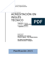 Planificacion Ingles Tecnico 2015faya
