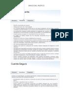 Diferentes cuentas bancarias ofrecidas por bancos en Ecuador (información a noviembre del 2015)