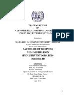 Microsoft Word - Sidhanth Bhatia Training Report