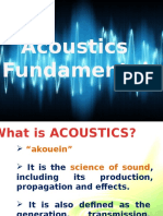 Lecture 1 Acoustic Fundamentals