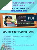 SEC 410 Course Career Path Begins Sec410dotcom