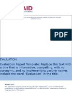 Sample Evaluation Report Template