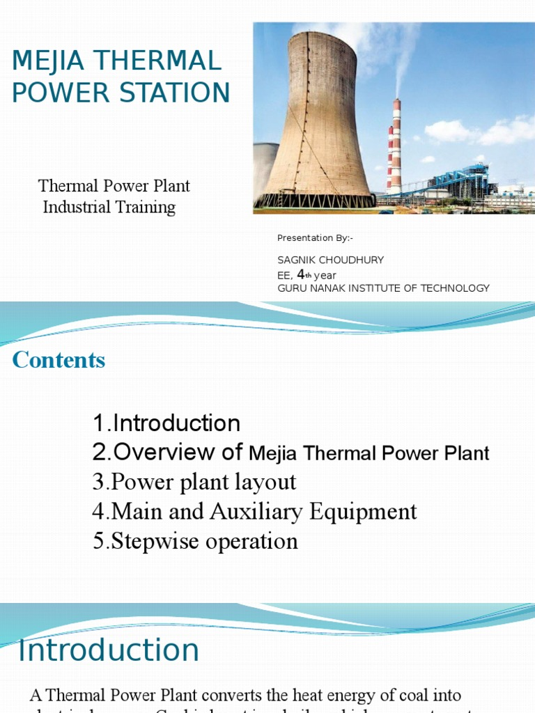 Dvc Mejia Report Boiler Steam Power Plant Equipment Layout
