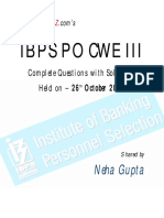 Ibps Po Cwe III 2013.1