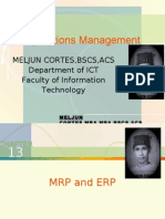 MELJUN CORTES -Operations Management 13th Lecture (MRP and ERP)