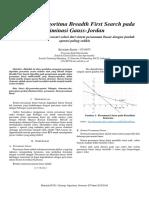 Penerapan Algoritma Breadth First Search Pada Eliminasi Gauss-Jordan ( Operasi Barisan Elementer )