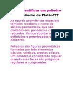 Como Identificar Um Poliedro Como Poliedro de Platão