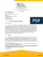 OMB Pet for Rulemaking FOIA Fee Guidance