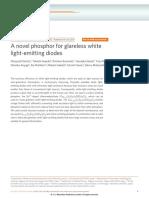A Novel Phosphor for Glareless White Light-emitting Diodes