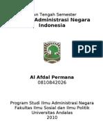 Al Afdal Permana Ujian Tengah Semester Sistem Administrasi NEgara Indonesia