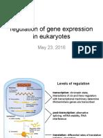 Week9 MonMay23 Regulationgeneexpressioneukaryotes 2016