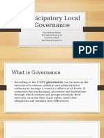 Participatory Local Governance