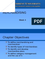 Week 4 Merchandising