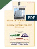 Handbook on Maintenance of Diesel Generator Set