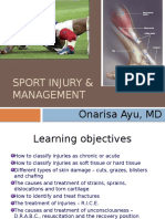Sport Injury and Management