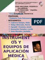 Instrumentos y Equipos de Aplicación Medica