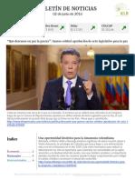 Boletín de noticias KLR 02JUN2016