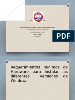 requerimientos minimos para instalar las diferentes versiones de windows