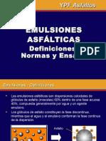 Emulsiones asfálticas (definiciones)