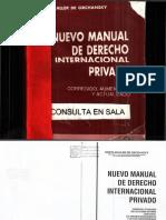Nuevo Manual Derecho Internacional Privado - Orchansky