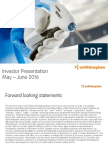 Smith and Nephew Q1 Investor Presentation
