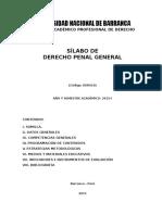 Sílabo de Derecho Penal General - UNAB
