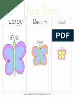 Butterfly Size Sort