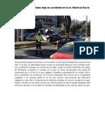 Dos Víctimas Mortales Deja Un Accidente en La Av