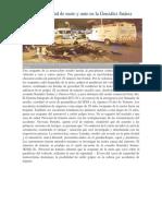 Choque Frontal de Moto y Auto en La González Suárez