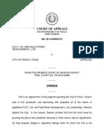 FLCT, Ltd. v. City of Frisco, No. 02-14-00335-DV (Tex. App. May 26, 2016)