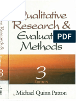 Qualitative Research Evaluation Methods by Michael Patton