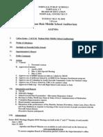 May 18 BOE Agenda