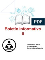 Boletin Informativo II