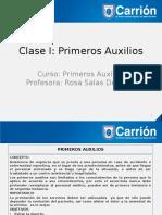 Clase I-Primeros Auxilios.pptx