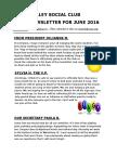 VSC June Newsletter for 2016