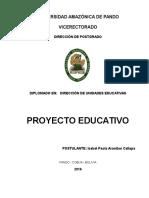 PROYECTO EDUCATIVO