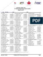 2016 Grand Prix Cycliste Gatineau start list 2016 (one page)