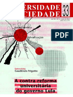 A Contra Reforma Universitária Do Governo Lula.