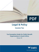 LAPD-Gen-G03 - Tax Exemption Guide for Public Benefit Organisations in South Africa - External Guide