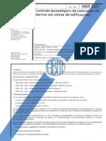 NBR 5681 Controle Tecnológico Da Execução de Aterros Em Obras de Edificações