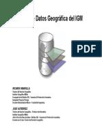 Base de Datos Geográfica Del IGM 05