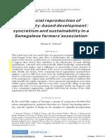 Galvan, The Social Reproduction of Community-based Development (2007)