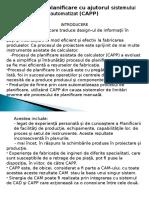 Procesul de Planificare Cu Ajutorul Sistemului Automatizat (CAPP)