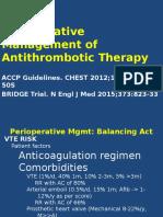 Perioperative Management of Anticoagulation
