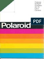 Polaroid SX-70 SONAR Manual