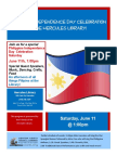 Philippine Independence Day 2016 on June 11, 2016 at Hercules Library