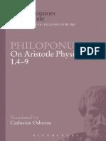 (Ancient Commentators on Aristotle) Aristotle._ Osborne, Catherine_ Philoponus, John-Philoponus on Aristotle Physics 1.4-9-Bloomsbury Academic_Bristol Classical Press_Duckworth (2009)