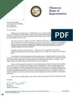 Letter to Governor Dayton 6.2.16