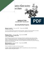 December 2009 – February 2010 Newsletter ~ South Coast, California Native Plant Society