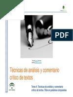 Técnicas de análisis y comentario de textos